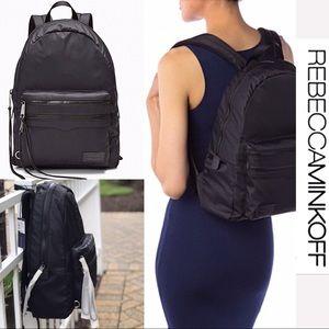 NWT Rebecca Minkoff Large Black 2 Zip Backpack